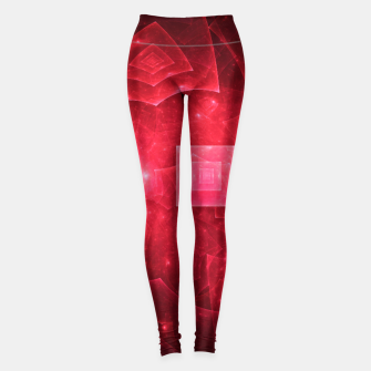 Miniaturka Red Square Universe Abstract Fractal Art Design Leggings, Live Heroes