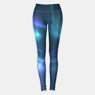 Miniaturka Light in the Dark Abstract Fractal Art Design Leggings, Live Heroes