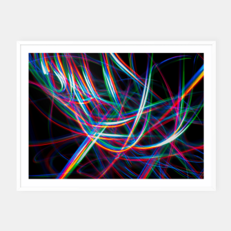 Miniature de image de Abstract Multi-Color Light Effect  Framed poster, Live Heroes