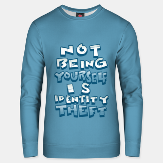 Thumbnail image of ID theft Unisex sweater, Live Heroes