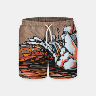 Miniature de image de Orange Cube Swim Shorts, Live Heroes