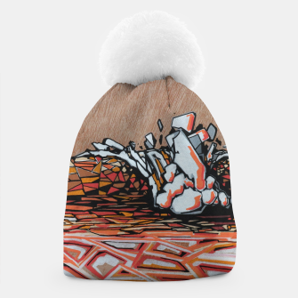 Thumbnail image of Orange Cube Beanie, Live Heroes