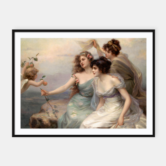 Miniaturka The Three Graces by Edouard Bisson Framed poster, Live Heroes