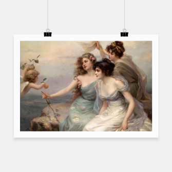 Miniaturka The Three Graces by Edouard Bisson Poster, Live Heroes