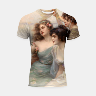 Miniaturka The Three Graces by Edouard Bisson Shortsleeve rashguard, Live Heroes