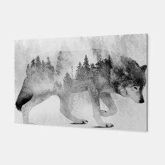 Miniatur Wolf 3 Black & White Canvas, Live Heroes
