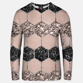 Thumbnail image of Blush Hexagon Glitter Glam #1 #geometric #decor #art Unisex sweatshirt, Live Heroes