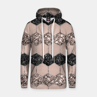 Thumbnail image of Blush Hexagon Glitter Glam #1 #geometric #decor #art Kapuzenpullover, Live Heroes