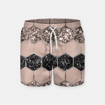 Thumbnail image of Blush Hexagon Glitter Glam #1 #geometric #decor #art Badeshorts, Live Heroes