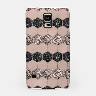 Thumbnail image of Blush Hexagon Glitter Glam #1 #geometric #decor #art Handyhülle für Samsung, Live Heroes