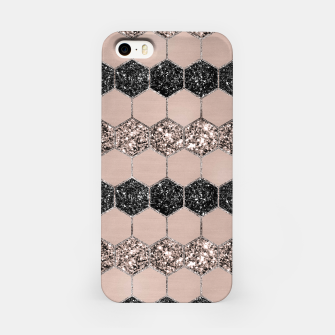 Thumbnail image of Blush Hexagon Glitter Glam #1 #geometric #decor #art iPhone-Hülle, Live Heroes