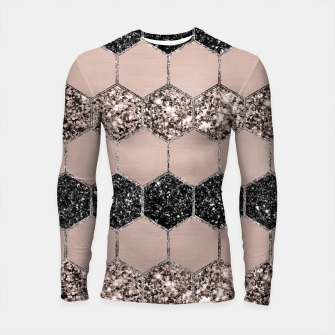 Thumbnail image of Blush Hexagon Glitter Glam #1 #geometric #decor #art Longsleeve rashguard, Live Heroes