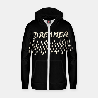 Thumbnail image of DREAMER #1 #typo #drawing #decor #art  Reißverschluss kapuzenpullover, Live Heroes