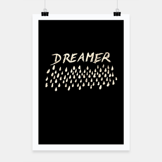 Thumbnail image of DREAMER #1 #typo #drawing #decor #art  Plakat, Live Heroes