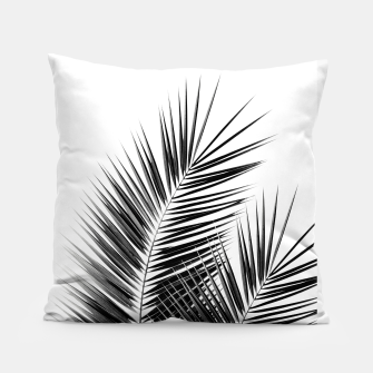 Thumbnail image of Black Palm Leaves Dream - Cali Summer Vibes #1 #tropical #decor #art  Kissen, Live Heroes
