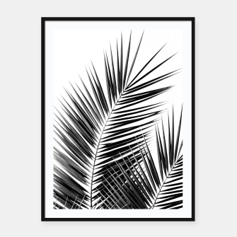 Thumbnail image of Black Palm Leaves Dream - Cali Summer Vibes #1 #tropical #decor #art  Plakat mit rahmen, Live Heroes