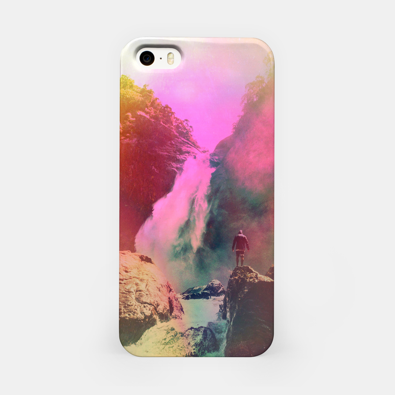 Foto Thin Ripple Cascade iPhone Case - Live Heroes