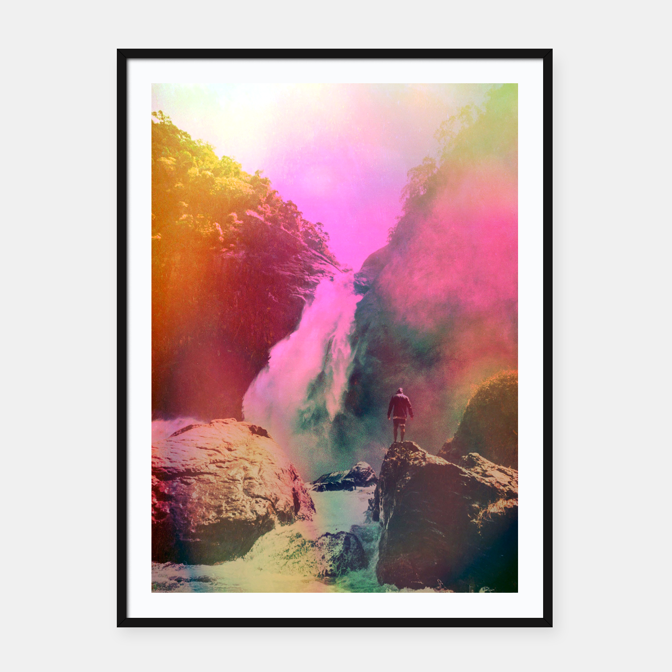 Foto Thin Ripple Cascade Framed poster - Live Heroes
