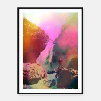 Miniatur Thin Ripple Cascade Framed poster, Live Heroes