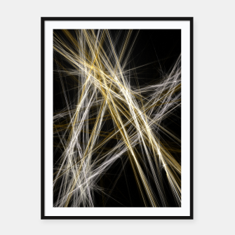 Thumbnail image of Abstract 1 - Gold & Silver Plakat mit rahmen, Live Heroes