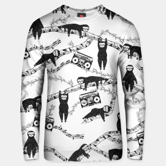 80'S Music Sloth Pattern Unisex sweater imagen en miniatura