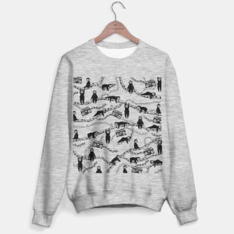 80'S Music Sloth Pattern Sweater regular imagen en miniatura