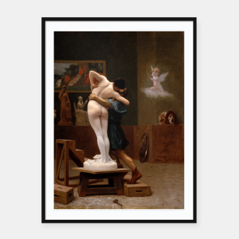 Miniatur Pygmalion and Galatea by Jean Leon Gerome Framed poster, Live Heroes