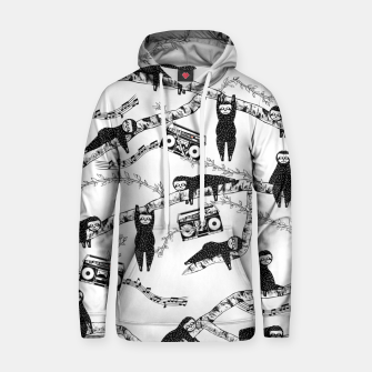 Thumbnail image of 80'S Music Sloth Pattern Hoodie, Live Heroes