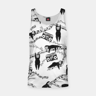 80'S Music Sloth Pattern Tank Top Bild der Miniatur