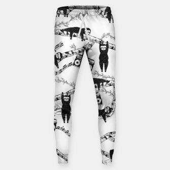 80'S Music Sloth Pattern Sweatpants imagen en miniatura