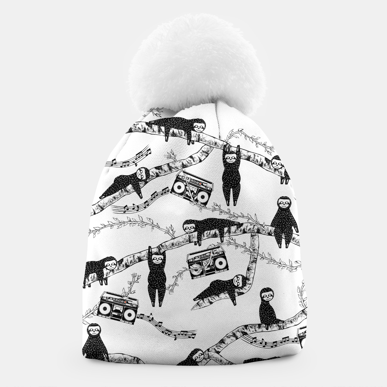 Foto 80'S Music Sloth Pattern Beanie - Live Heroes