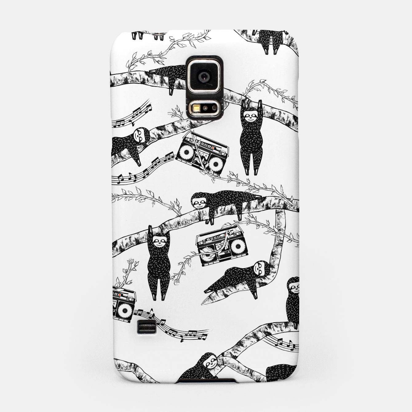 Foto 80'S Music Sloth Pattern Samsung Case - Live Heroes