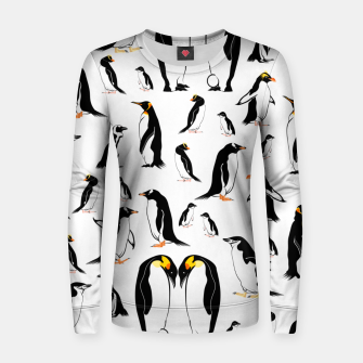Penguin Pattern Women sweater thumbnail image
