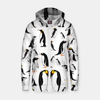 Penguin Pattern Zip up hoodie thumbnail image