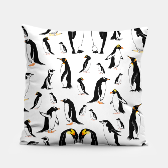 Penguin Pattern Pillow thumbnail image