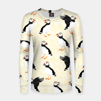 Thumbnail image of Puffin Pattern Women sweater, Live Heroes
