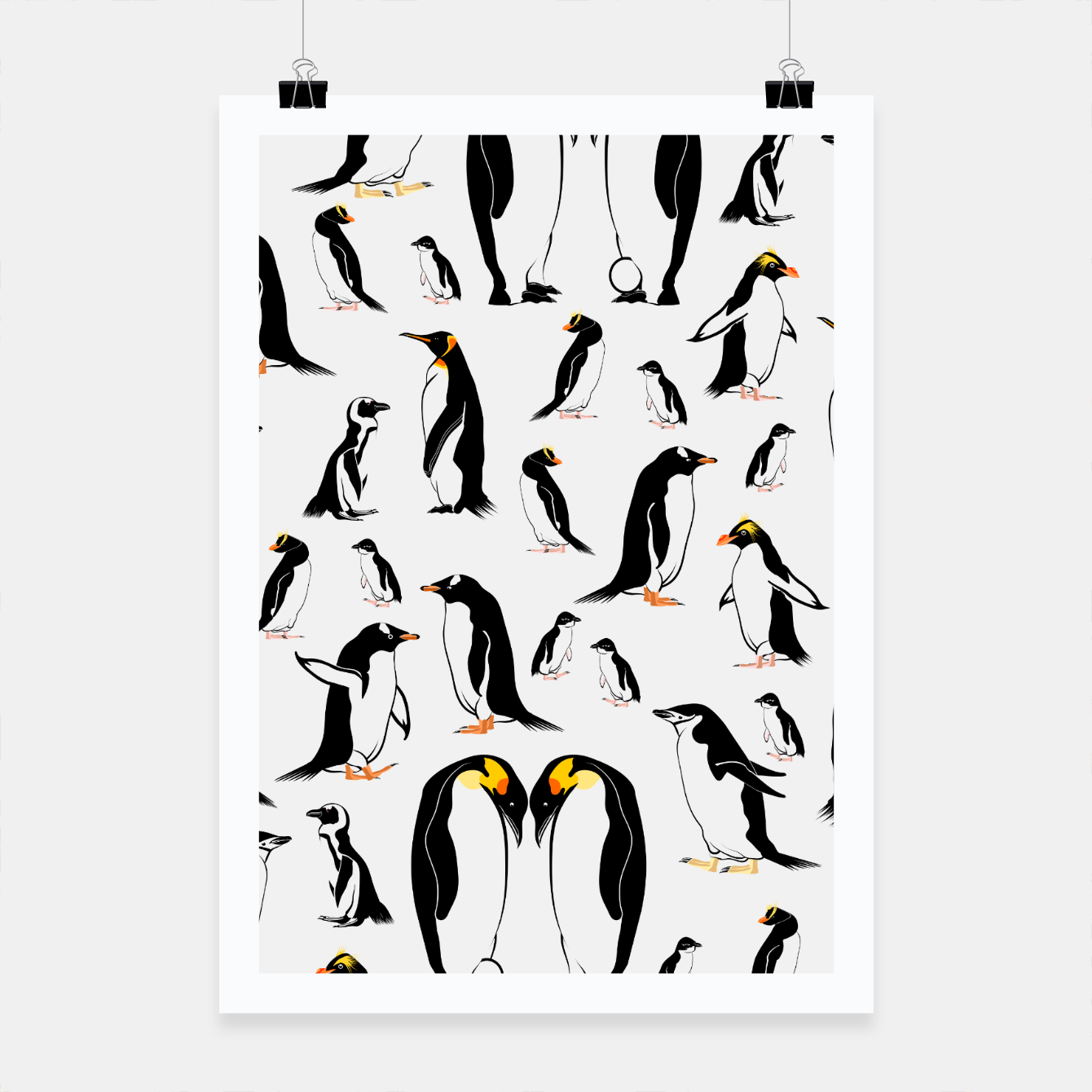 Image of Penguin Pattern Poster - Live Heroes