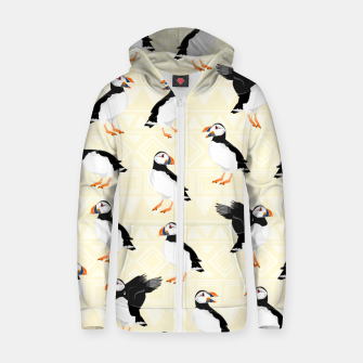 Thumbnail image of Puffin Pattern Zip up hoodie, Live Heroes