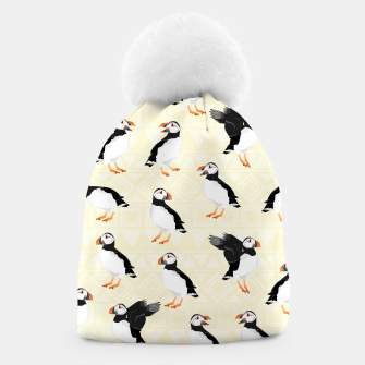 Thumbnail image of Puffin Pattern Beanie, Live Heroes
