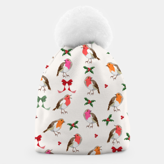 Thumbnail image of Robin Birds Christmas Pattern Beanie, Live Heroes