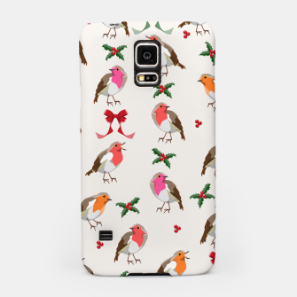 Thumbnail image of Robin Birds Christmas Pattern Samsung Case, Live Heroes
