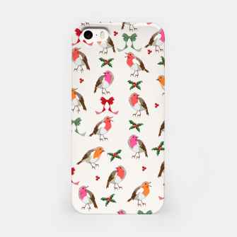Thumbnail image of Robin Birds Christmas Pattern iPhone Case, Live Heroes