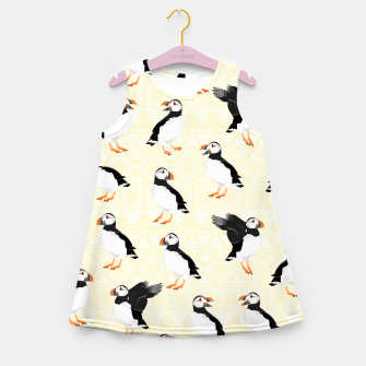 Thumbnail image of Puffin Pattern Girl's summer dress, Live Heroes