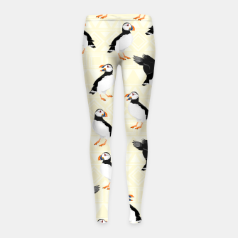 Thumbnail image of Puffin Pattern Girl's leggings, Live Heroes