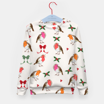 Thumbnail image of Robin Birds Christmas Pattern Kid's sweater, Live Heroes