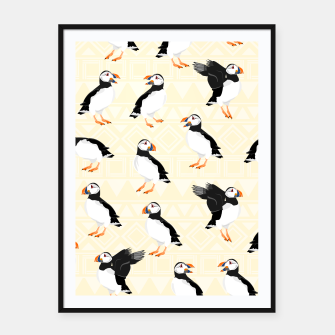 Miniatur Puffin Pattern Framed poster, Live Heroes