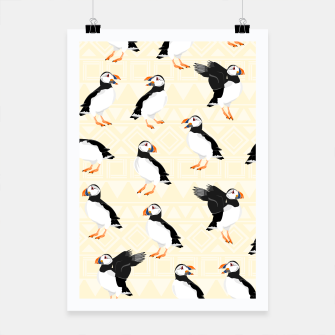 Thumbnail image of Puffin Pattern Poster, Live Heroes