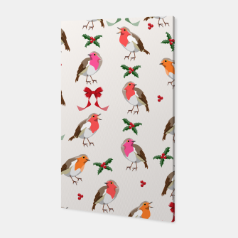 Thumbnail image of Robin Birds Christmas Pattern Canvas, Live Heroes