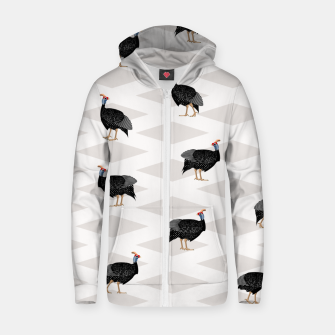 Thumbnail image of Guinea Foul Pattern Zip up hoodie, Live Heroes