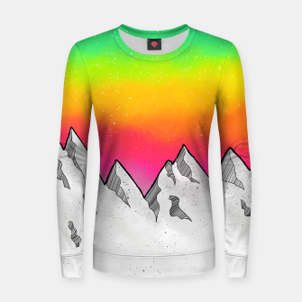 Mountain Scene Women sweater Bild der Miniatur